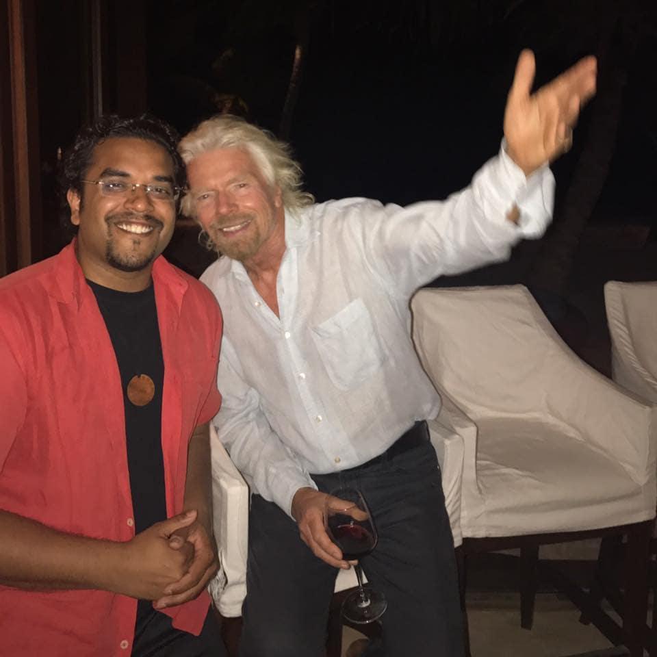 Richard branson with Anik Singal