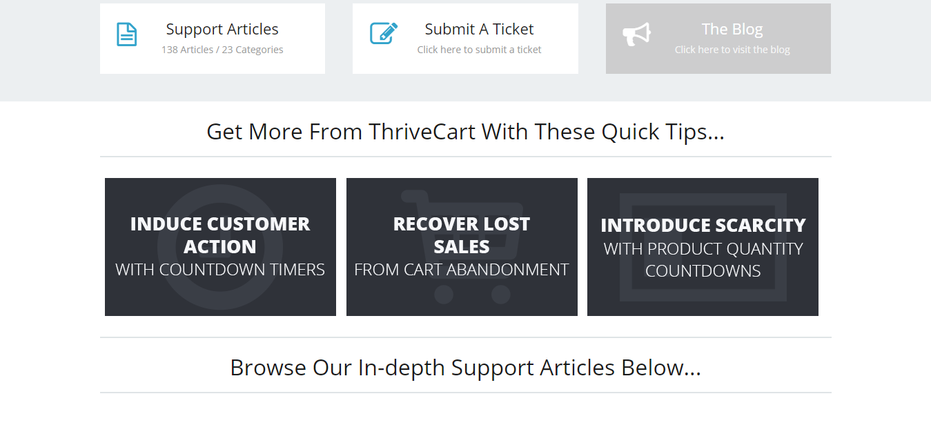 Thrivecart support