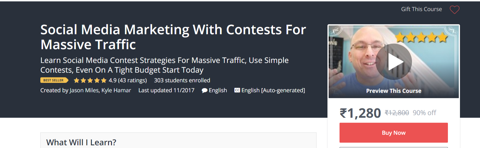 Social Media Marketing With Contest- Udemy Courses- Find Winning Shopify Products