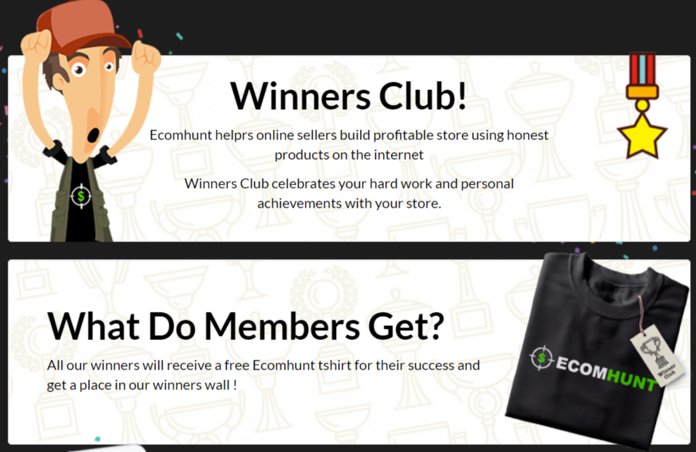 Winners Club- Ecomhunt Review