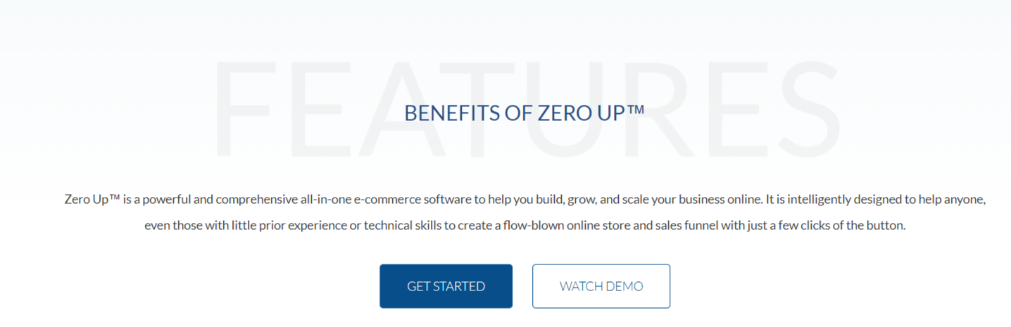 Zero Up Review- Advanced eCommerce Technology- Features
