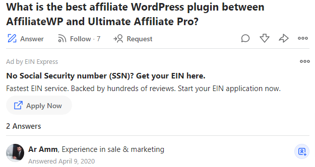 affiliatewp review - quora