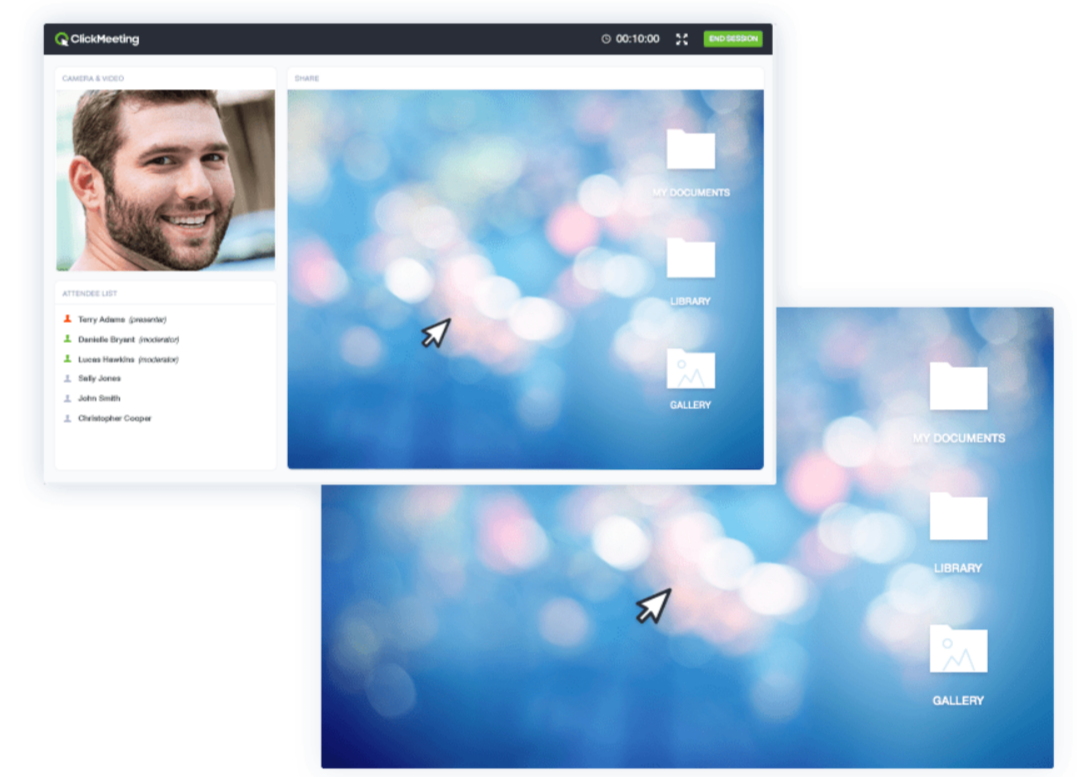 ClickMeeting Review- Easy webinar screen sharing