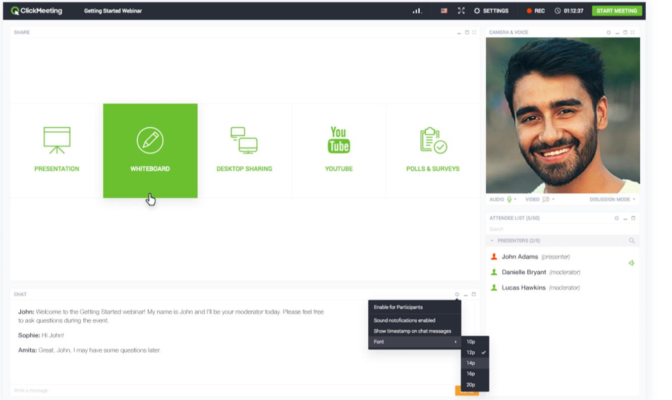 ClickMeeting Review- Webinar Room