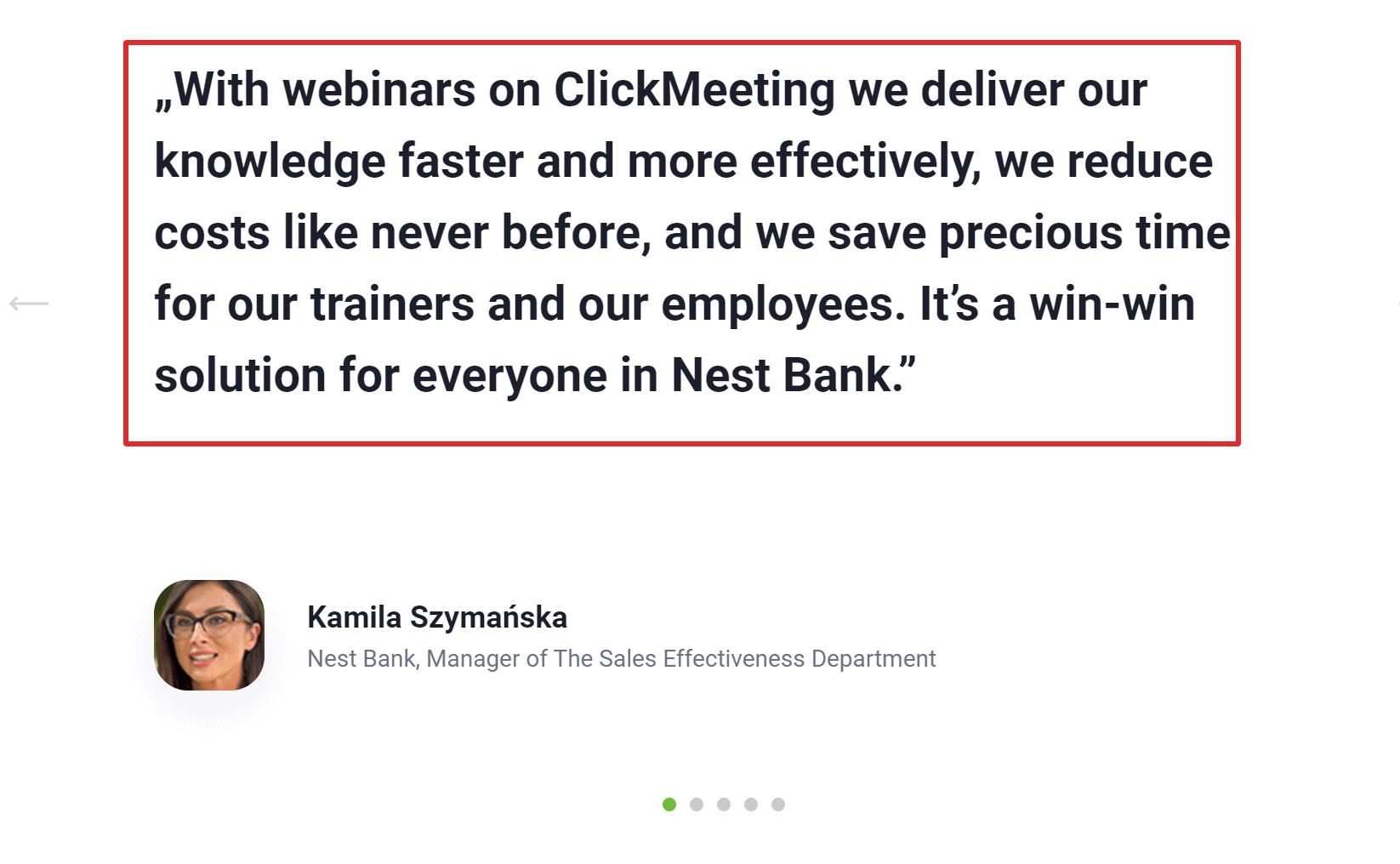 Clickmeeting testimonials online reviews