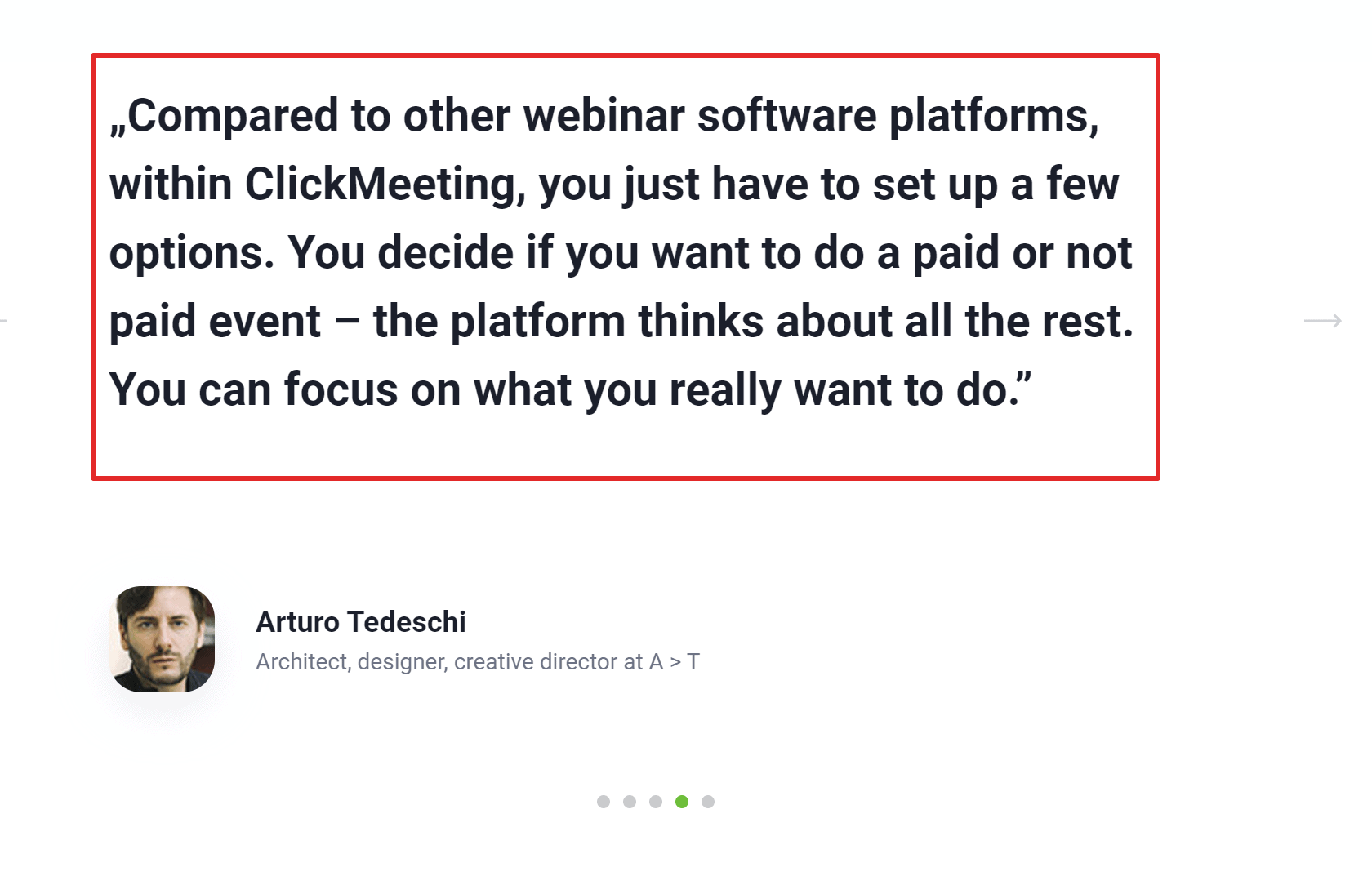 Clickmeeting testimonials online