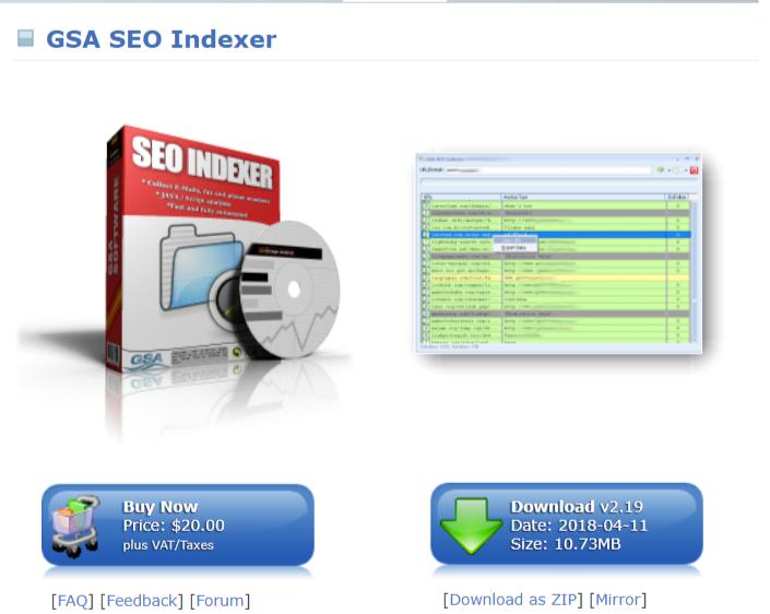 GSA SEO Indexer- Pricing