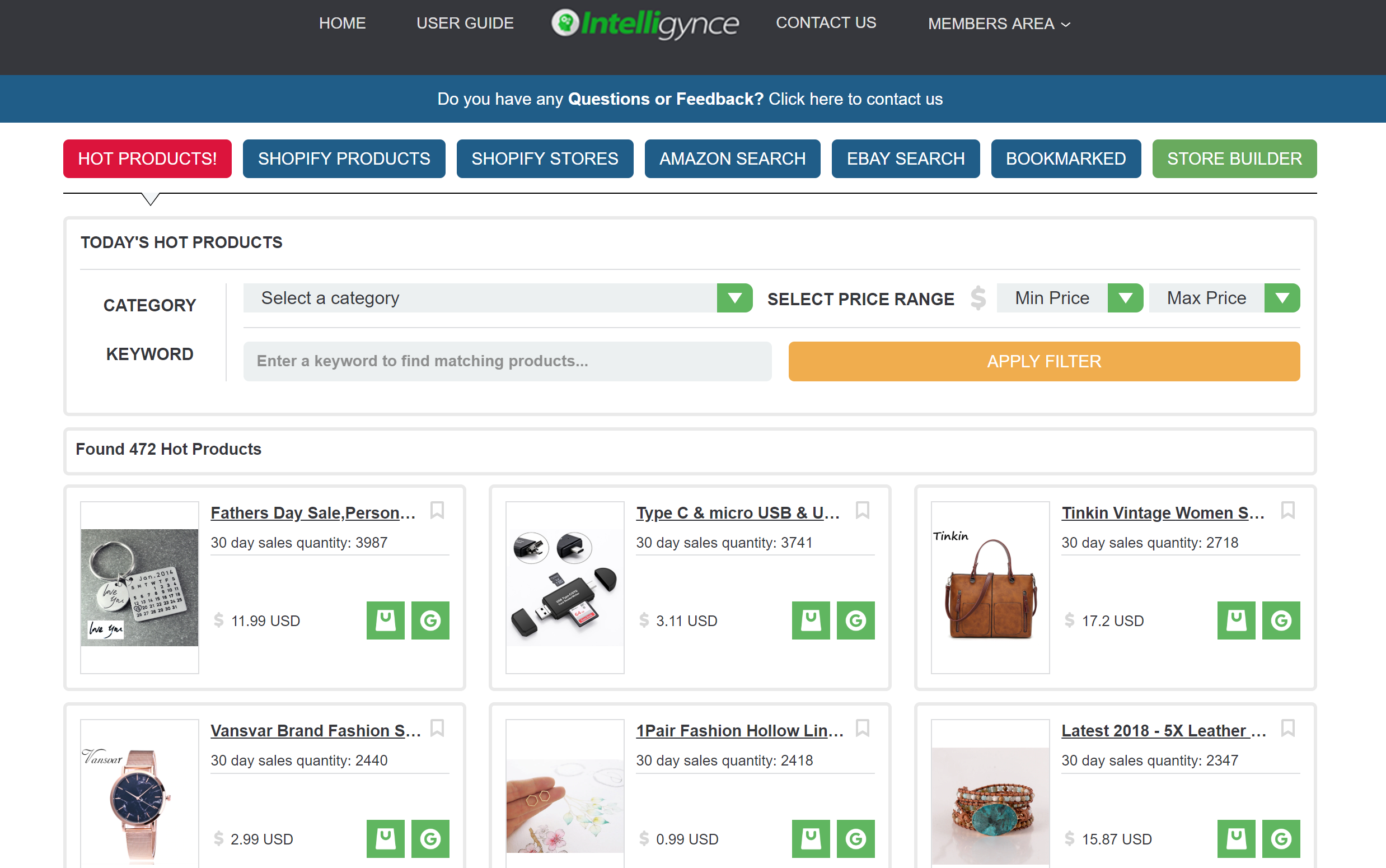 Intelligynce Overview- Shopify analysis tools