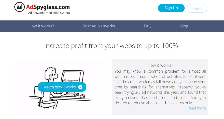 AdSpyglass Review — ad networks mediation platform