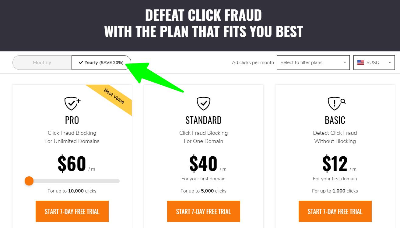 ClickCease - Pricing