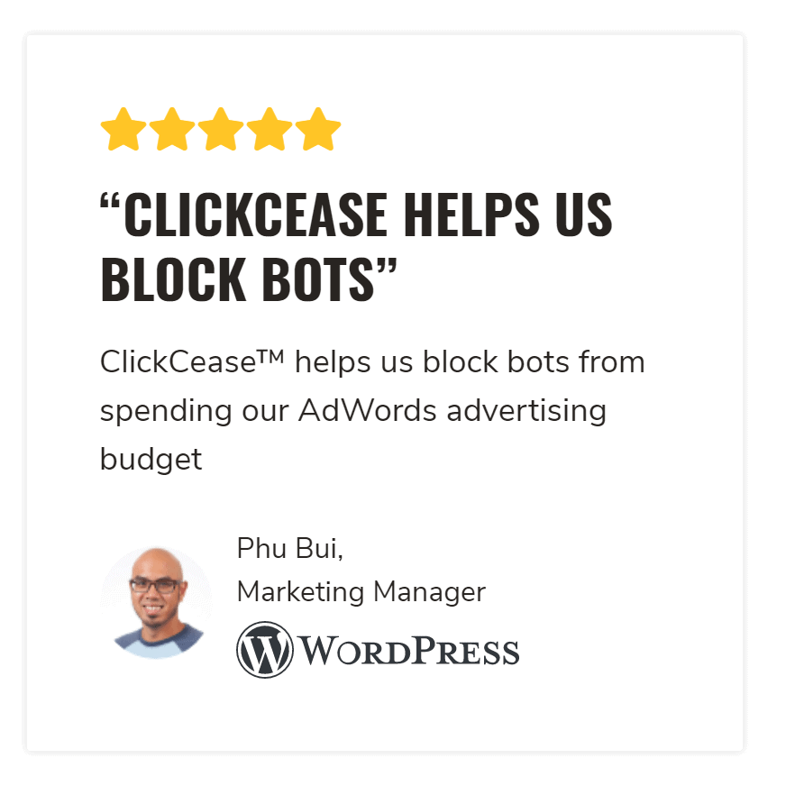 Clickcease features