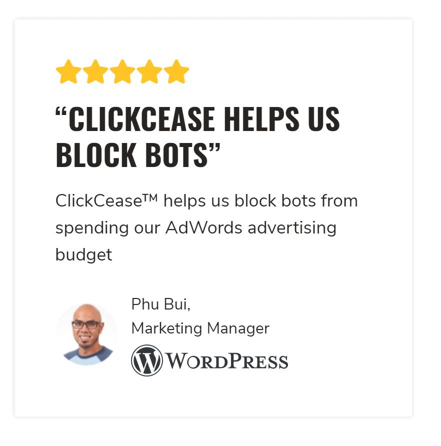 Clickcease features