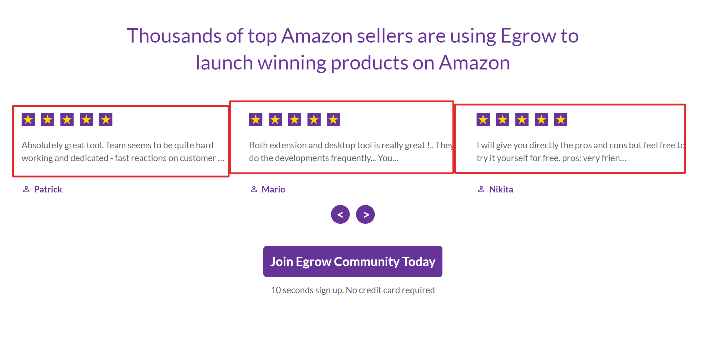 Egrow reviews Amazon product research tool