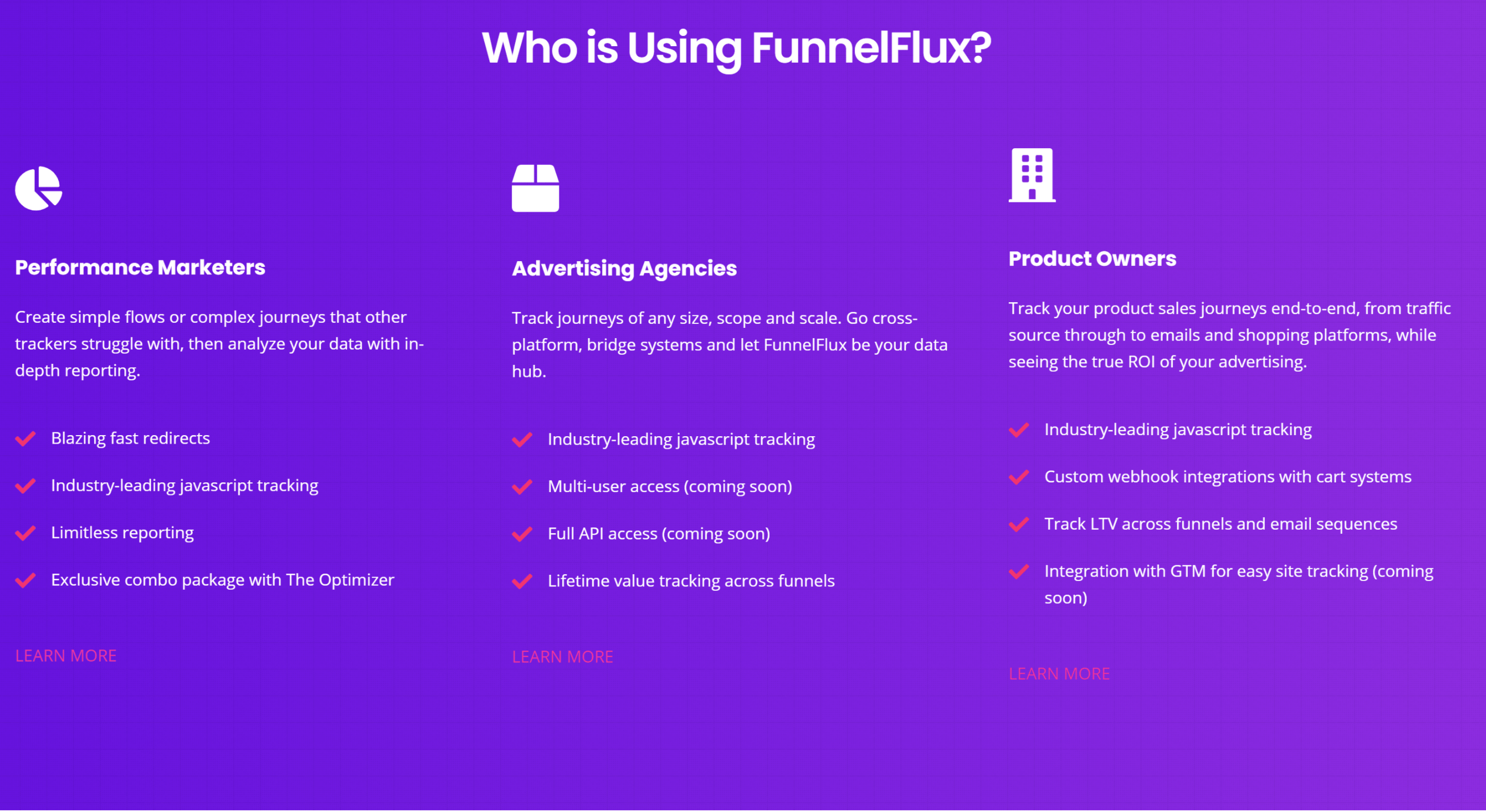 FunnelFlux pro features