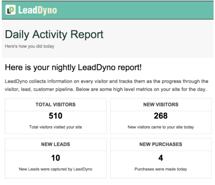 LeadDyno Review - Daily Reports
