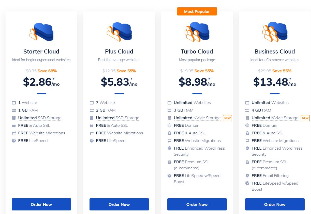 NameHero - Pricing