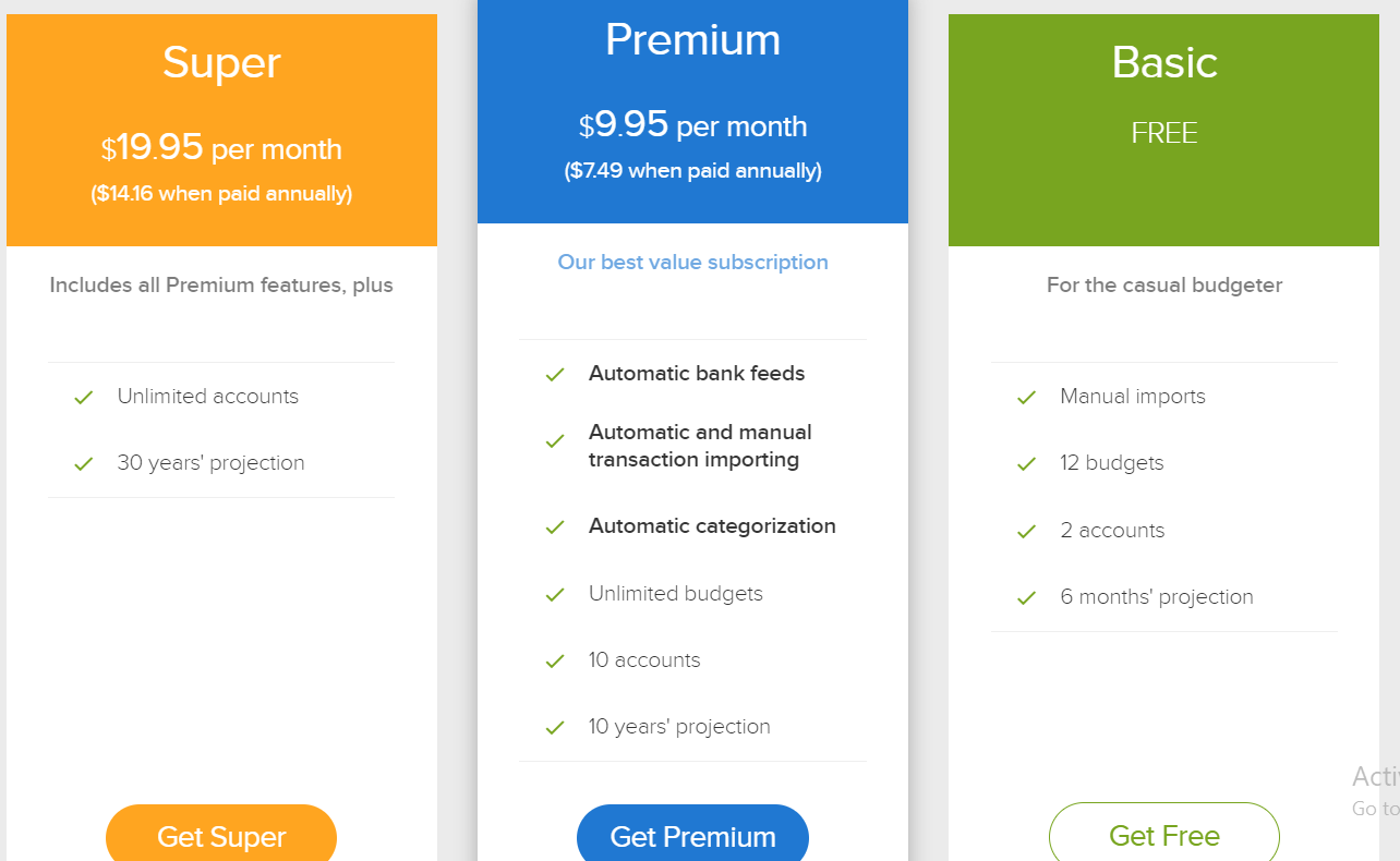 PocketSmith Review- Our Plans Pricing Free plans available
