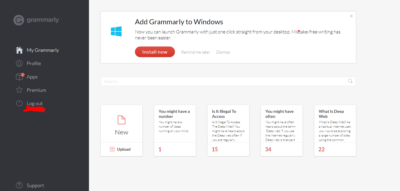 Review about Grammarly web version