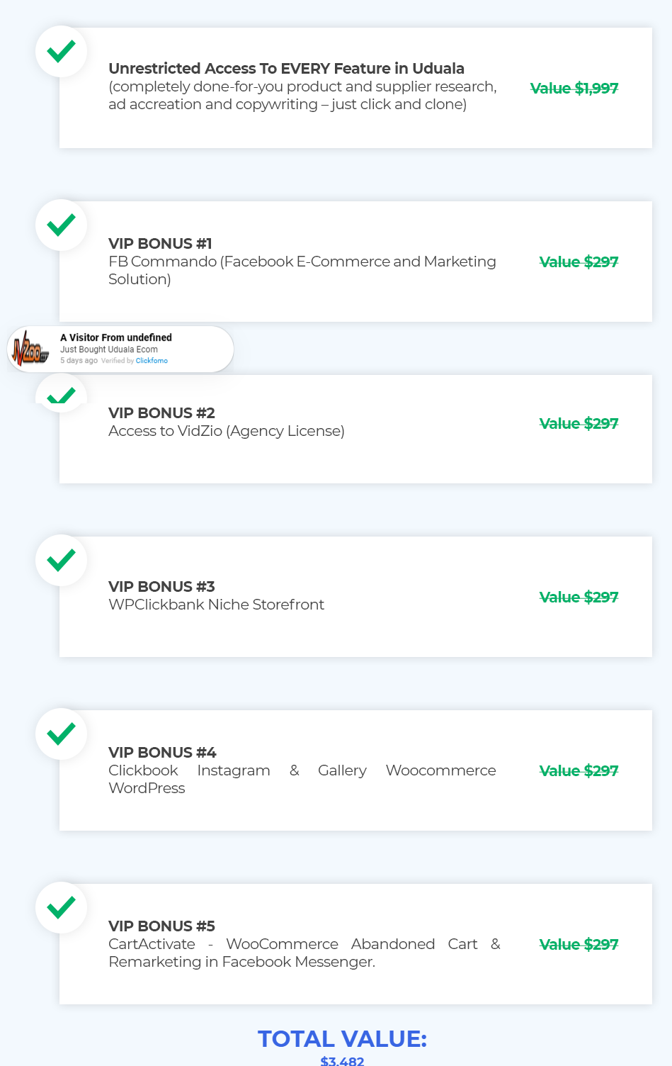 Uduala VIP bonus with review