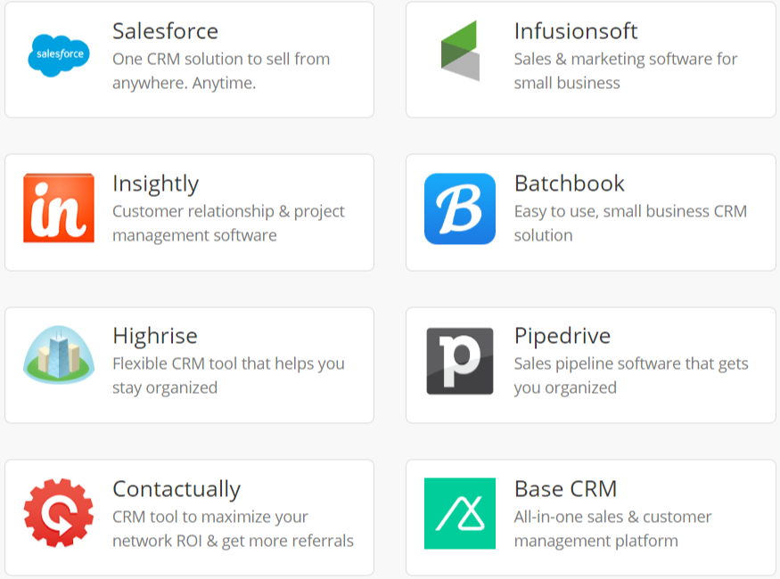 Wishpond Review- CRM Integrations