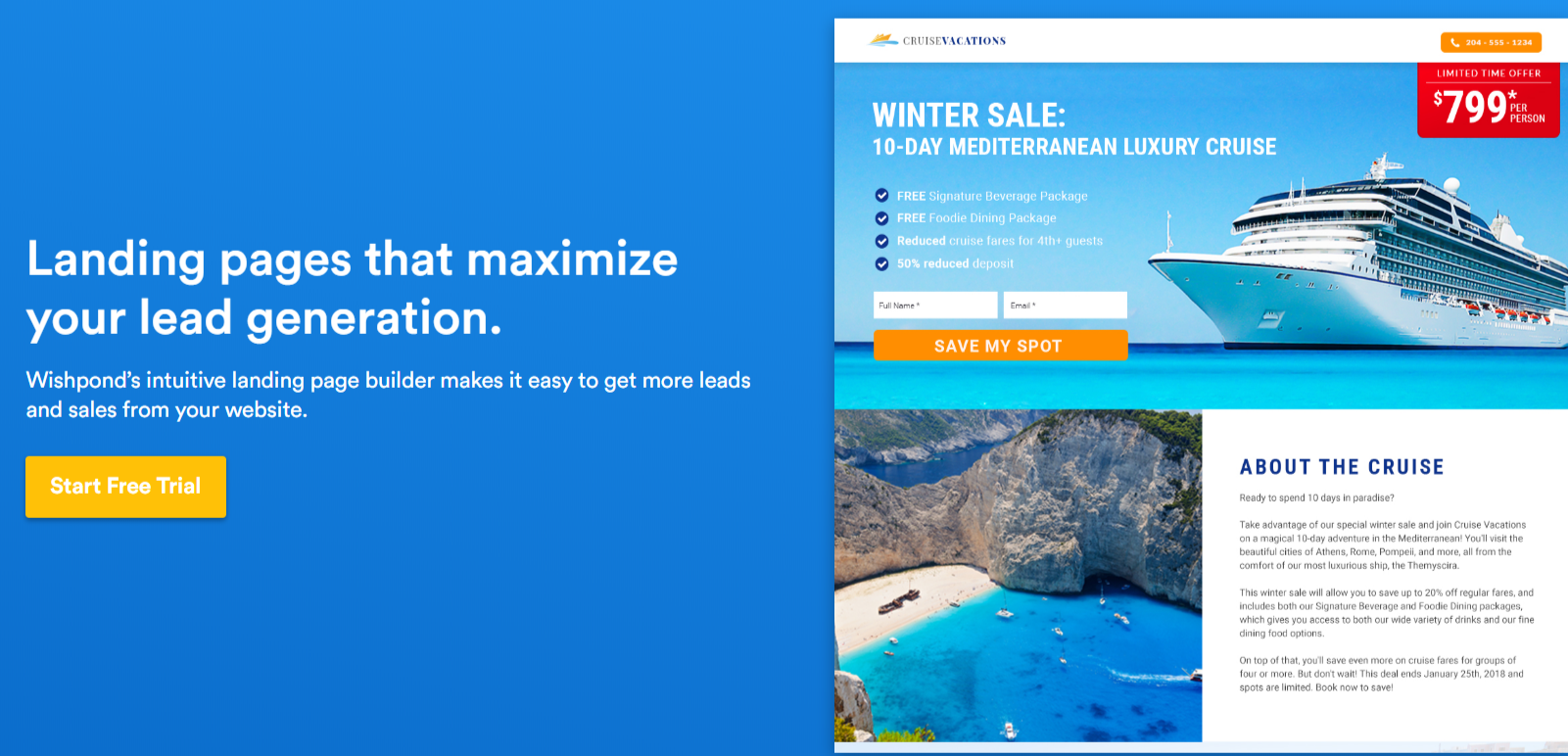 Wishpond Review- Landing Page Builder