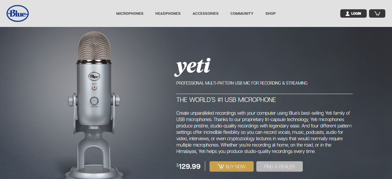 Yeti microphones as vlogger gear - BloggersIdeas