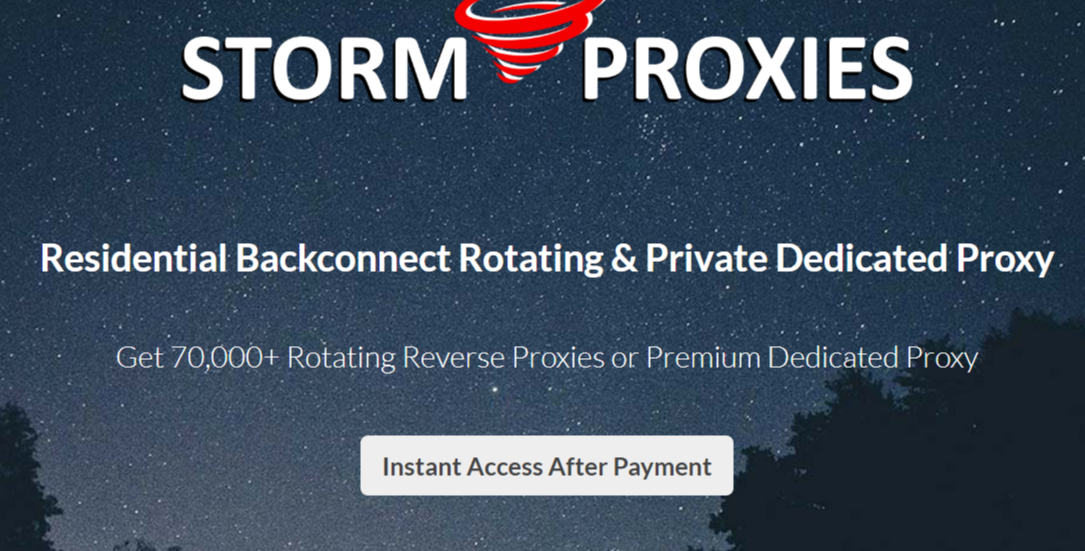 StormProxies- Best Dedicated Proxy Servers