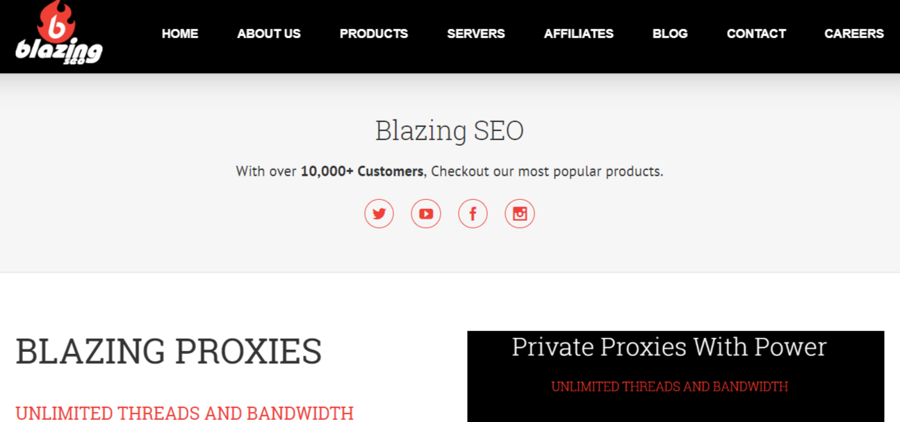 Blazing SEO Proxies- Best Private Proxy Networks