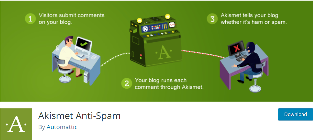 Create A Blog Easily- Akismet Plugin