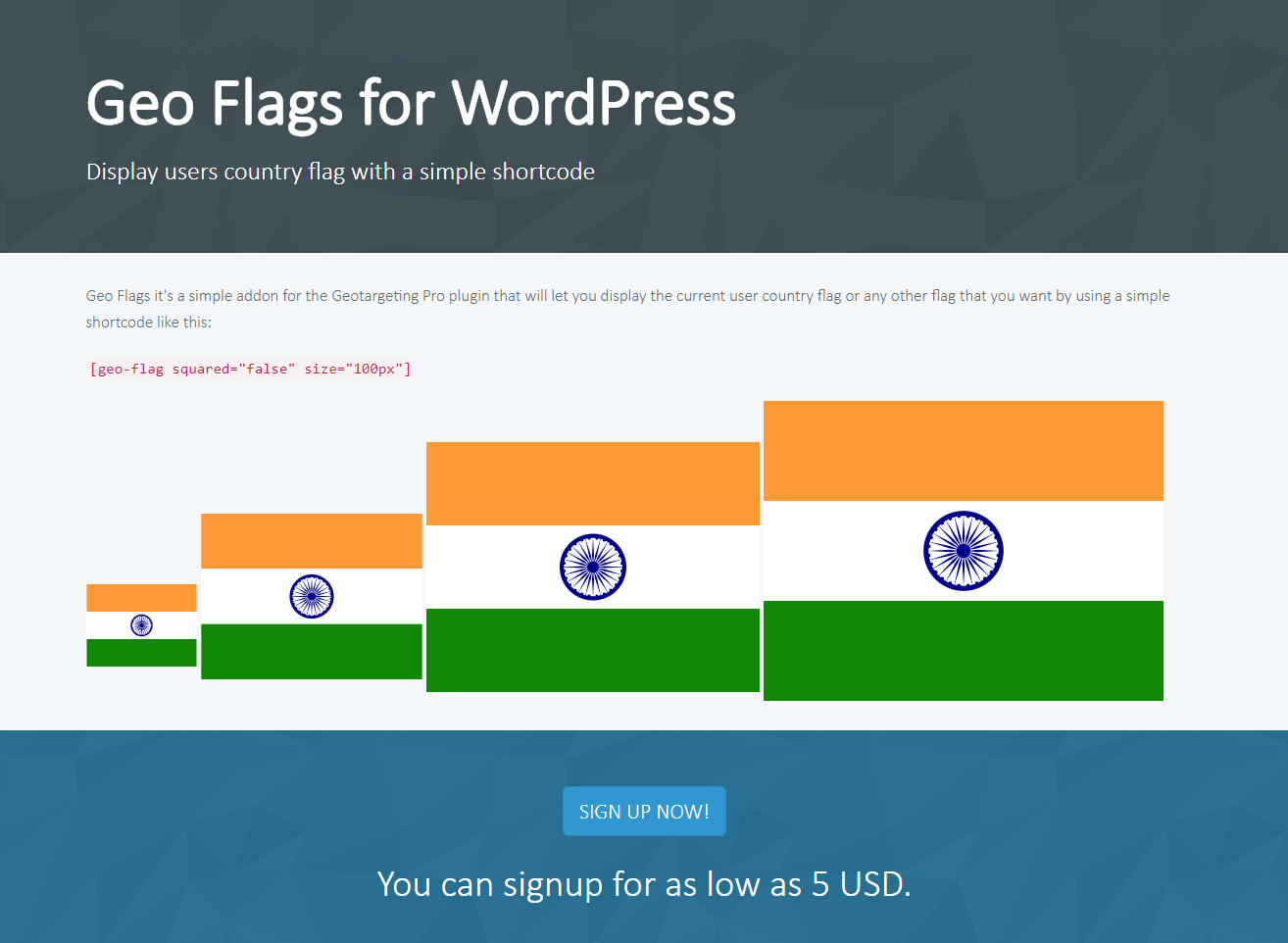 Geo Flags for WordPress