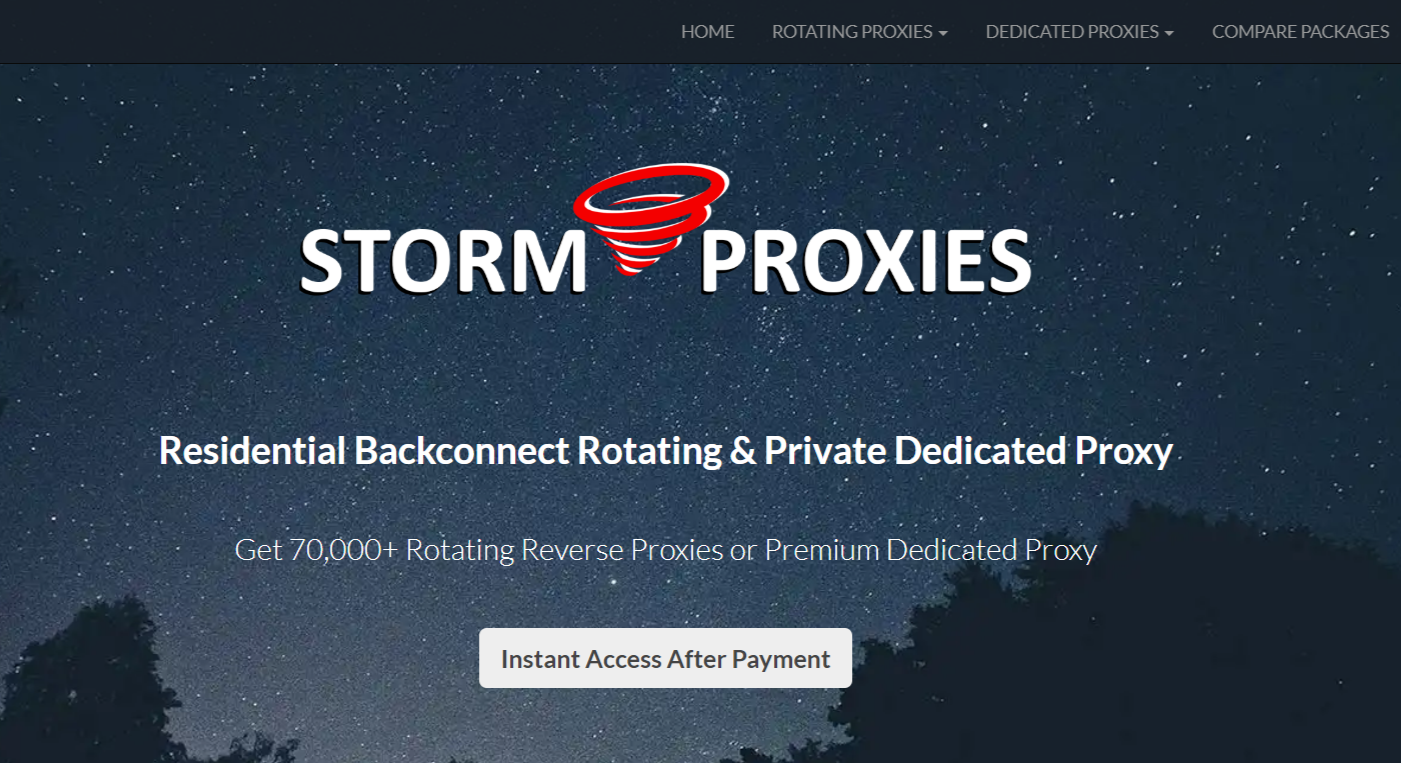 StormProxies- Proxies For Sale