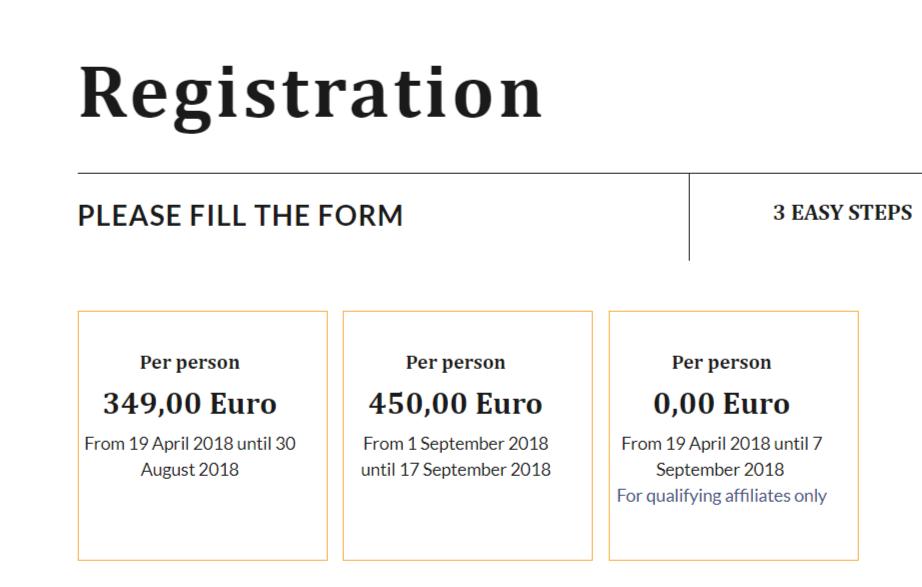 The European Summit- Registration