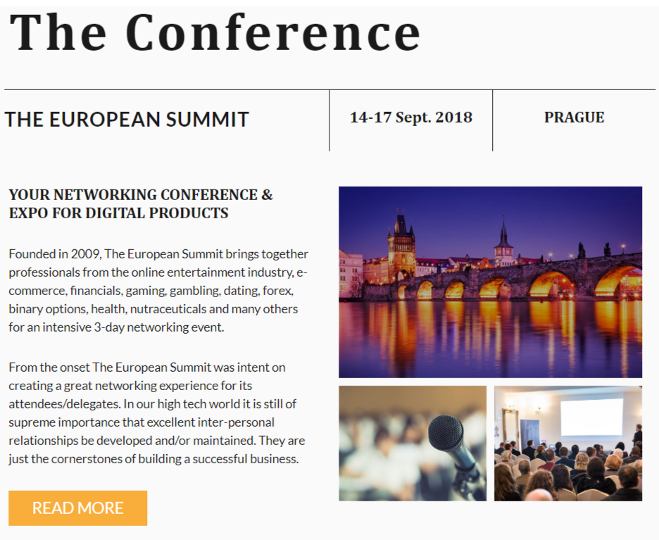 The European Summit- What This Conference Is All About
