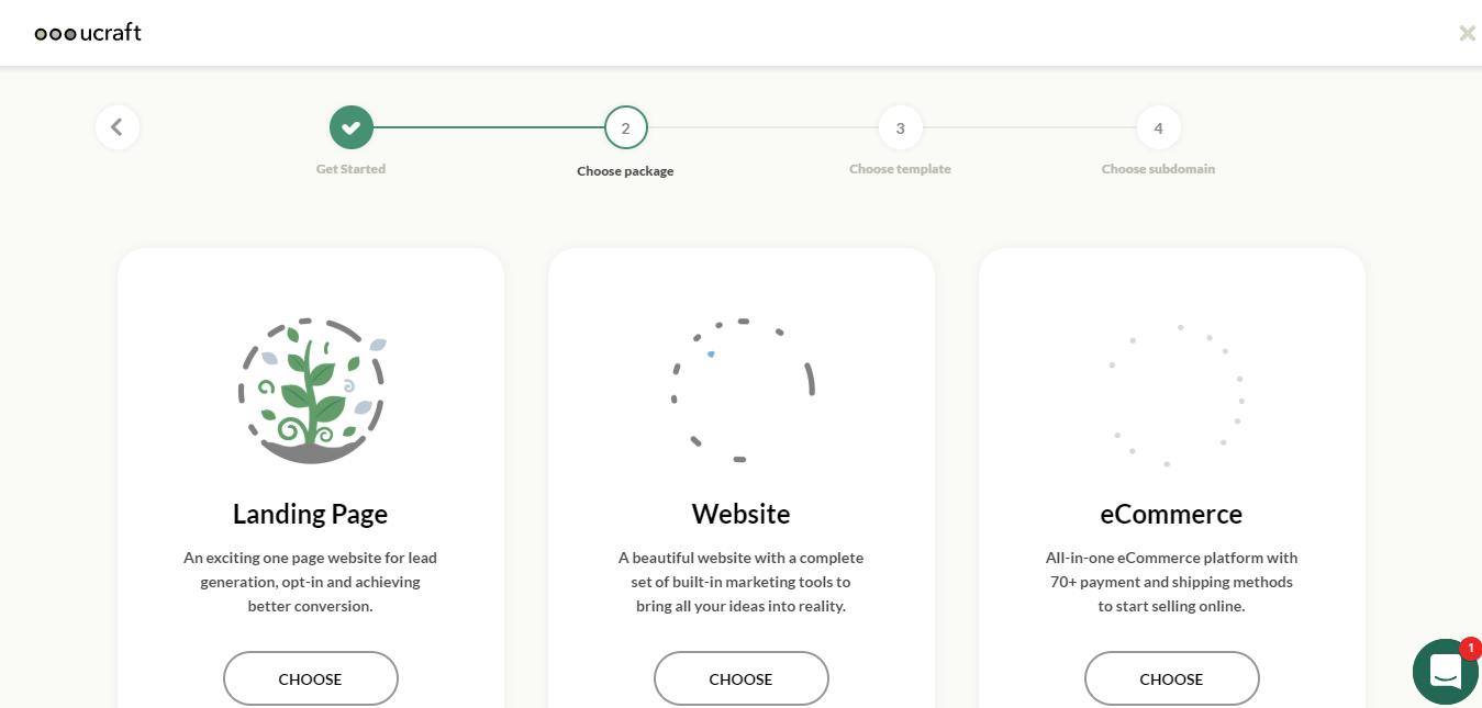 UCraft website builder