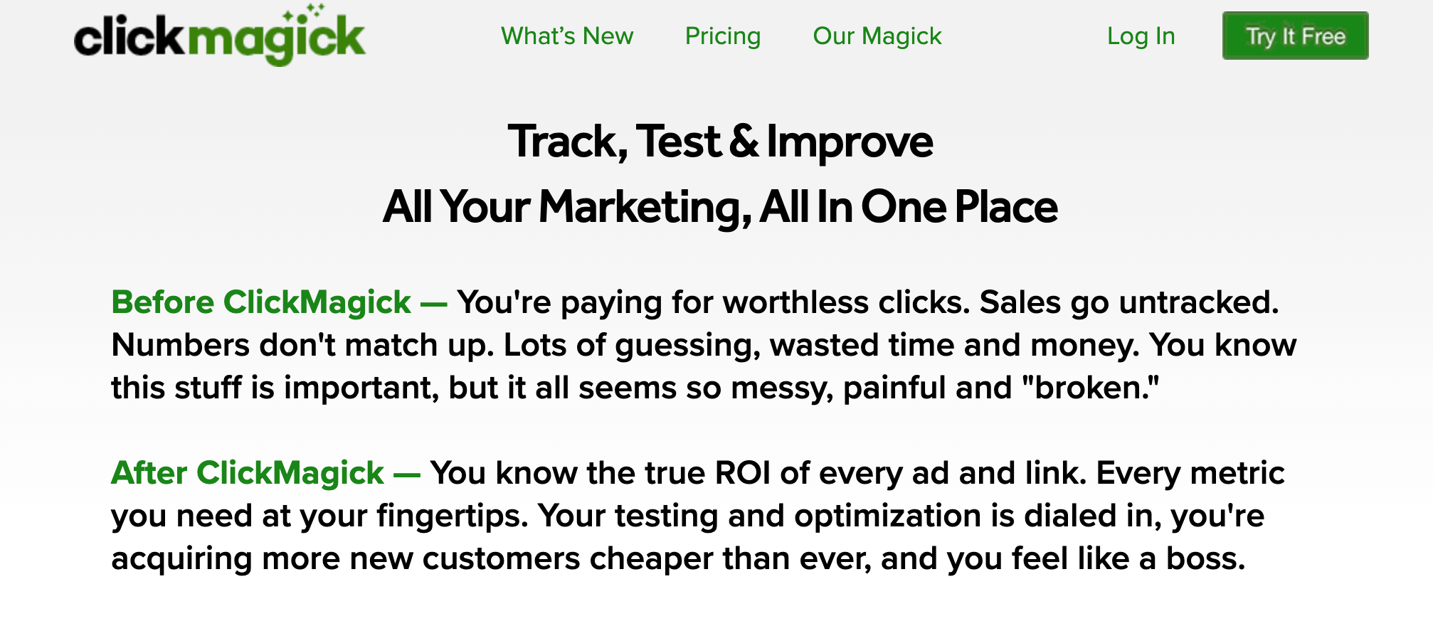 ClickMagick Affiliate Marketing Tracker