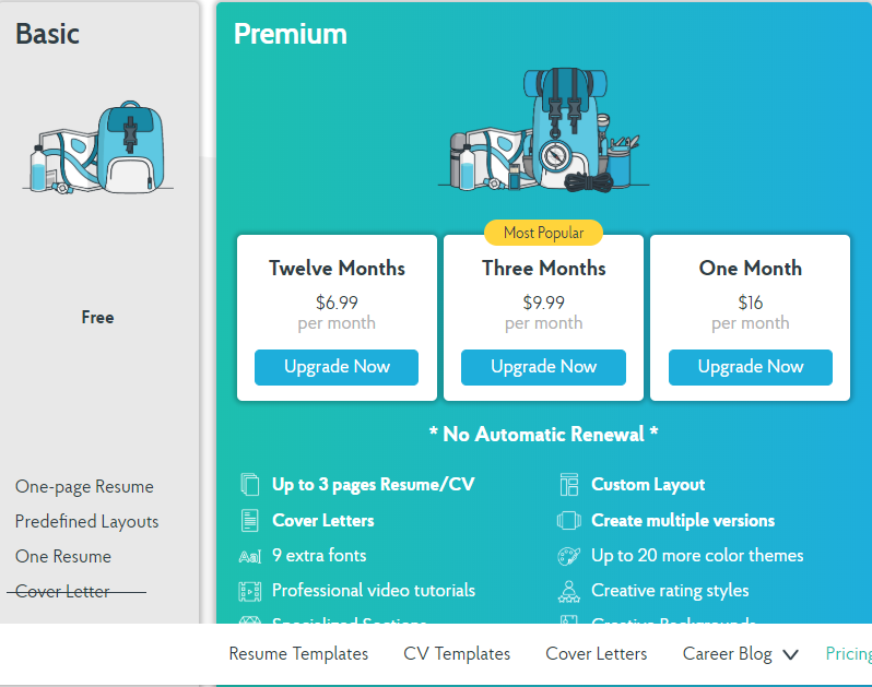 Novoresume Prices