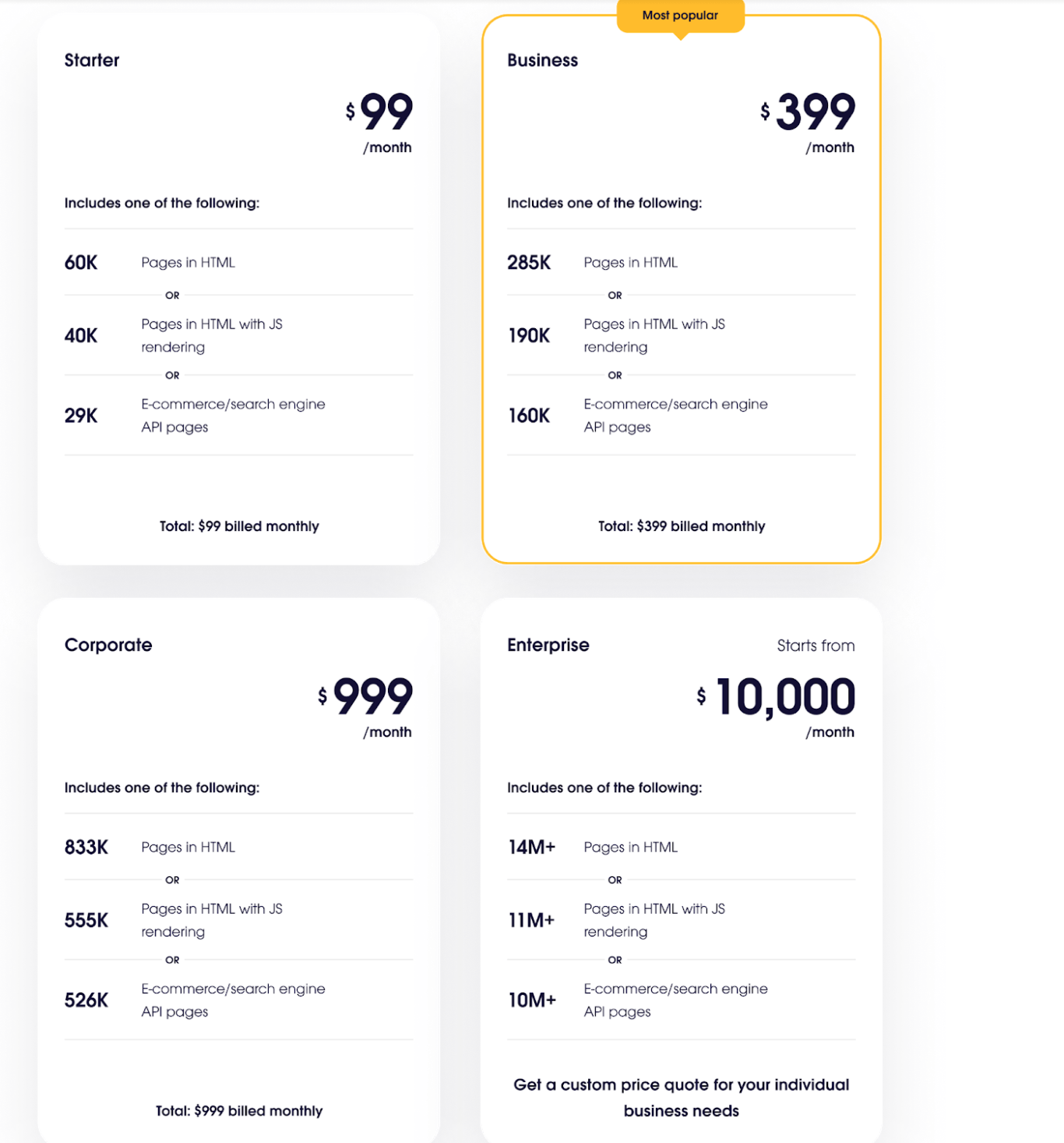 Oxylabs pricing real time crawler