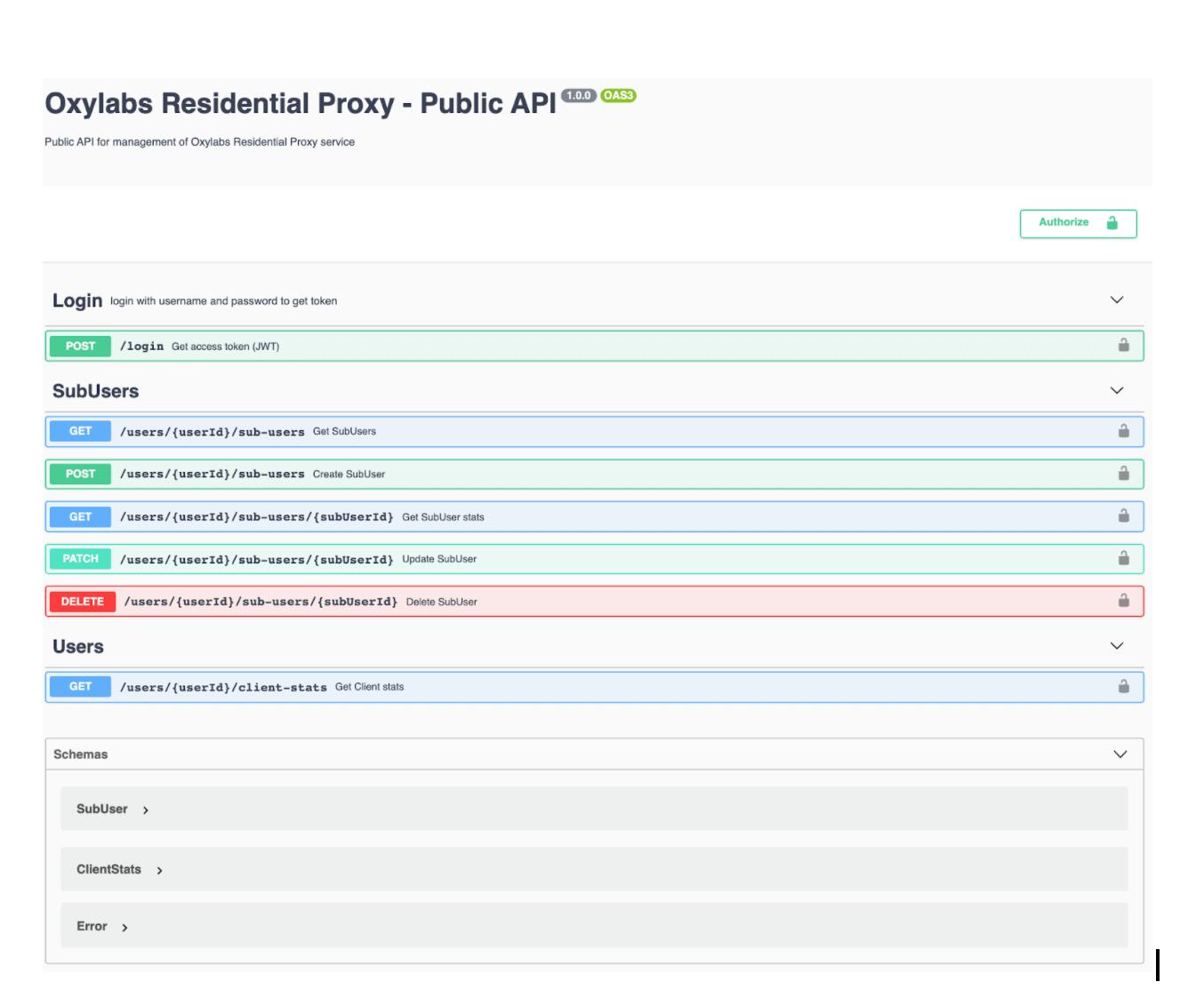 Oxylabs public API