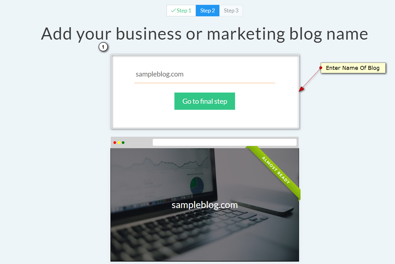 SITE123 Review- Enter The Name Of Your Blog