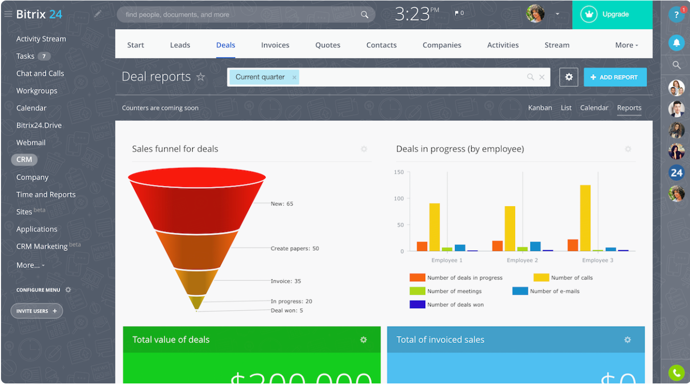 Bitrix24 Review- Free CRM With Invoicing