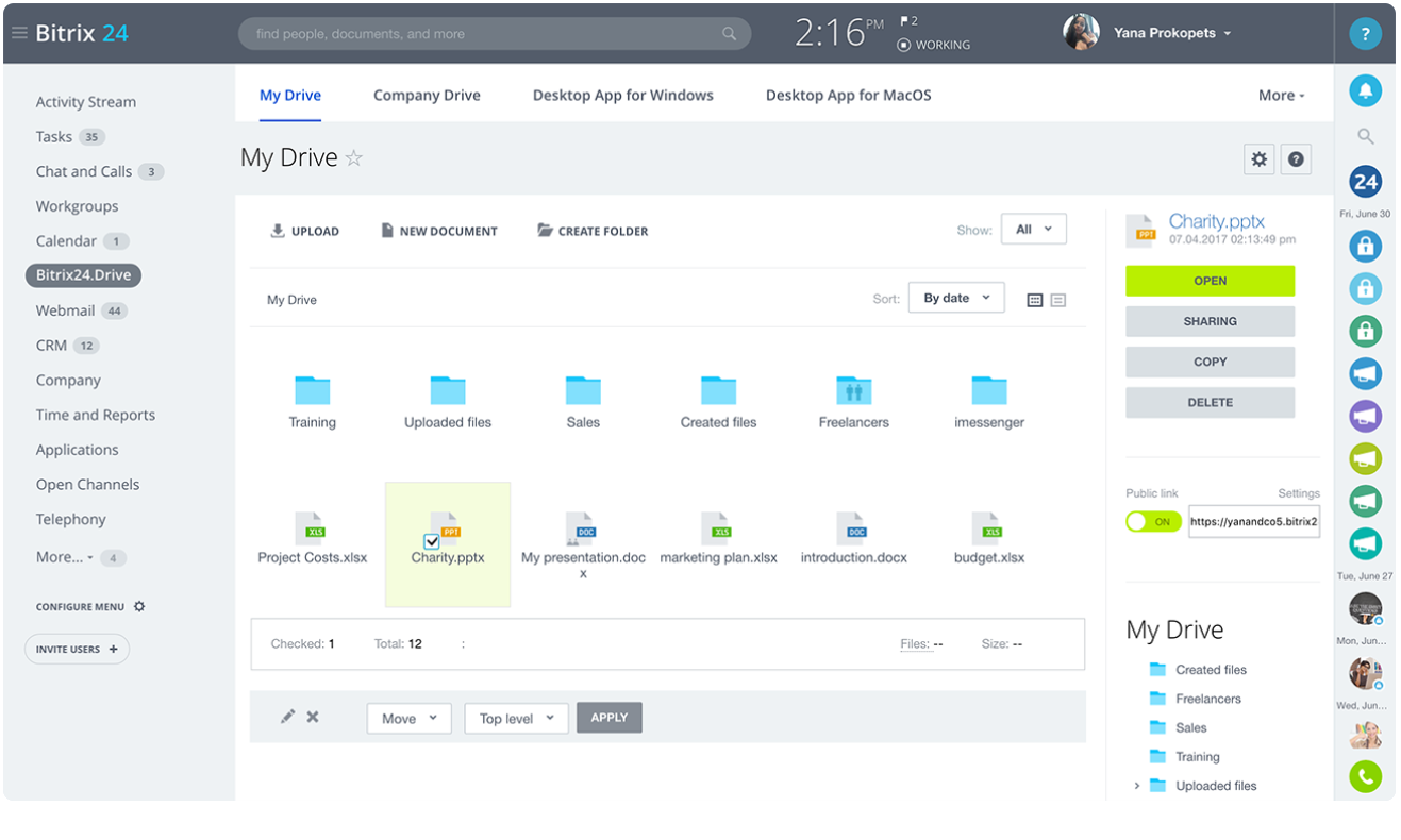 Bitrix24 Review- Free Document Management