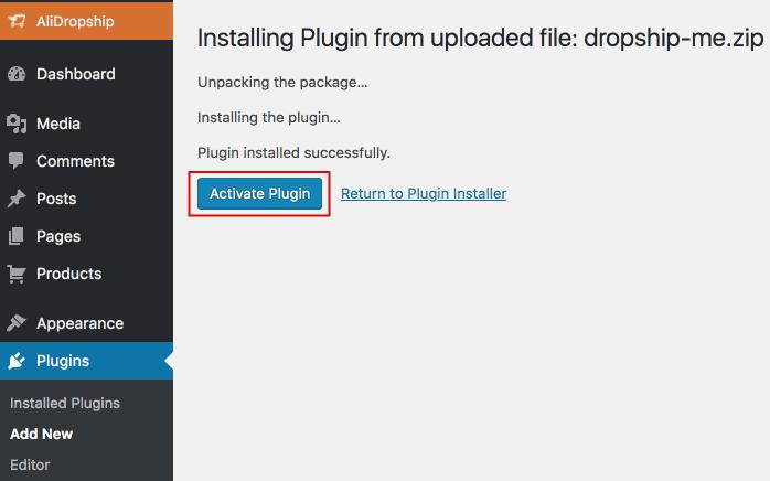 Dropship me installing 1