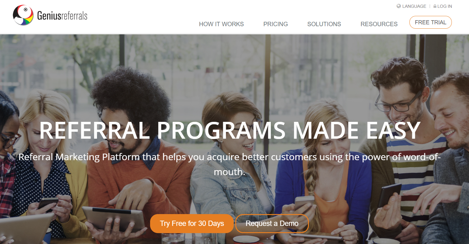 Genius Referrals- Referral Programs Software