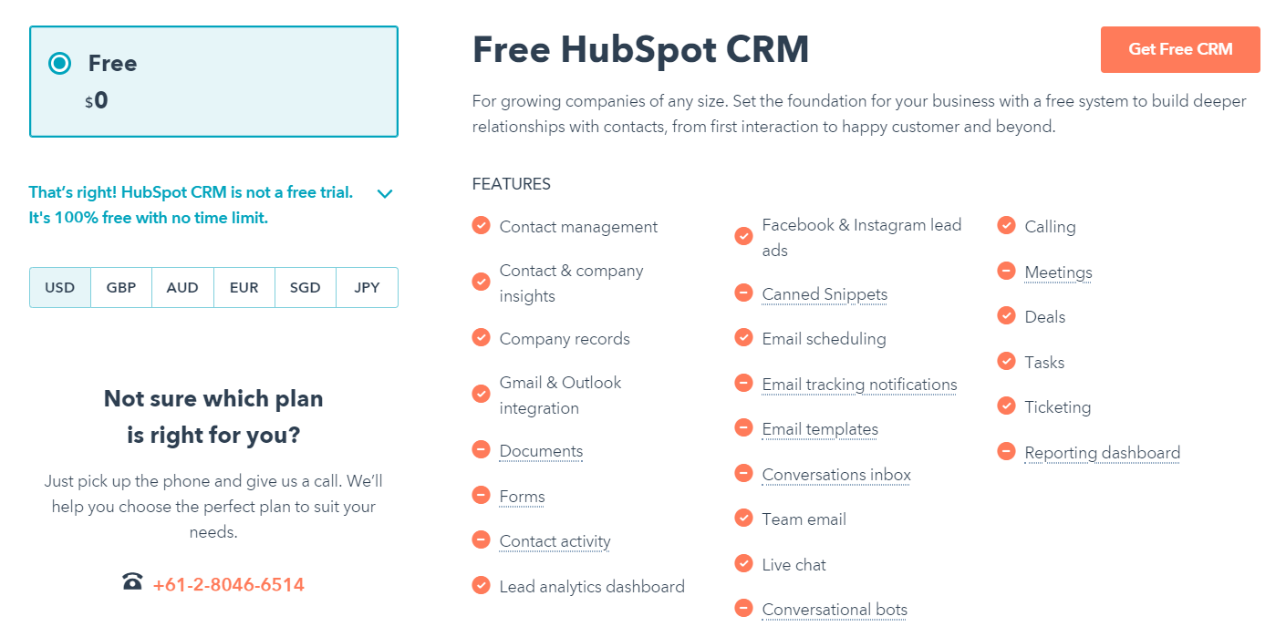 HubSpot Review- Free CRM Software