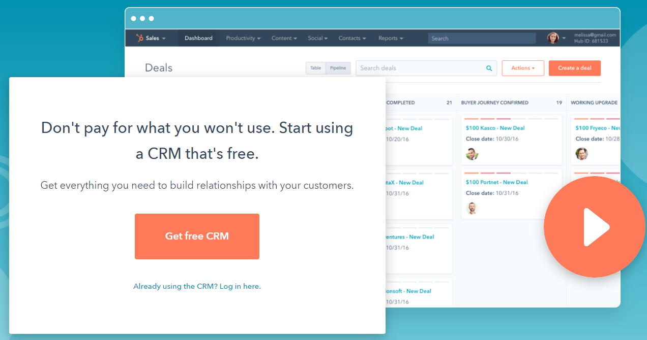 HubSpot Review- Free CRM for Small Businesses