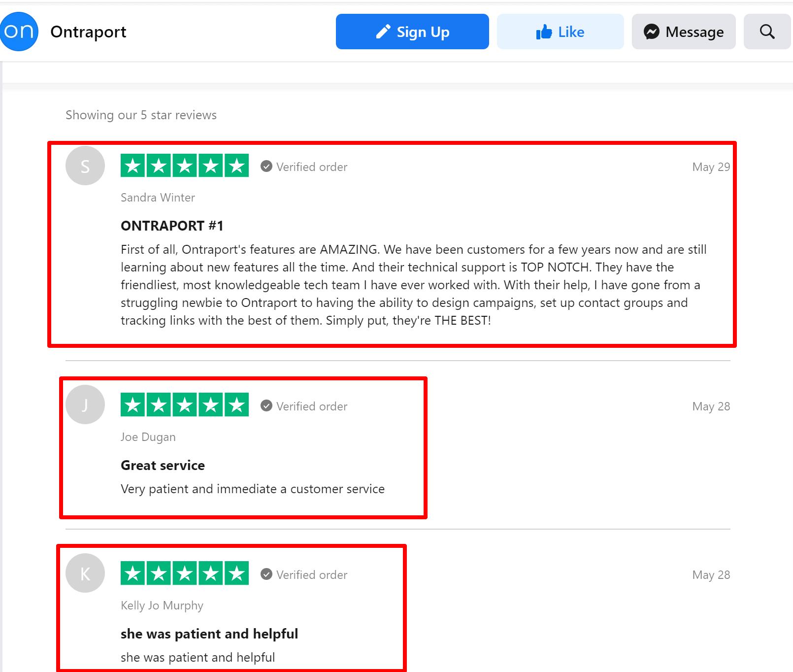 Ontraport Trustpilot Reviews Facebook online 2