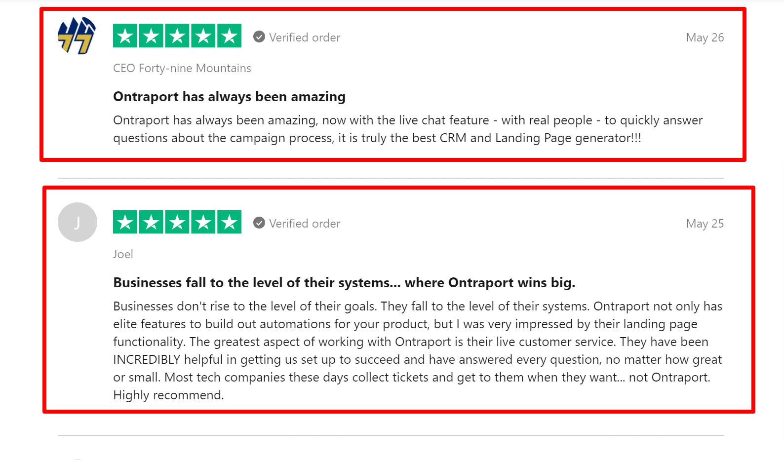 Ontraport Trustpilot Reviews Facebook