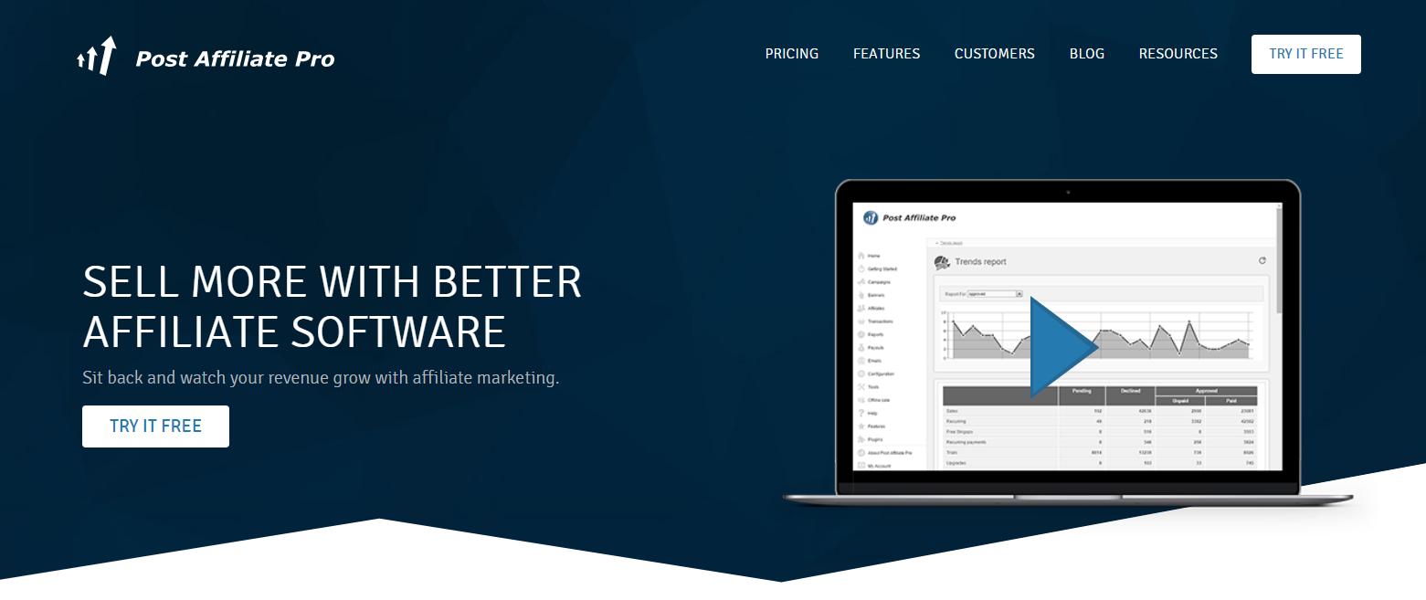 Post Affiliate Pro- Best Thrive Affiliate Tracker Alternatives