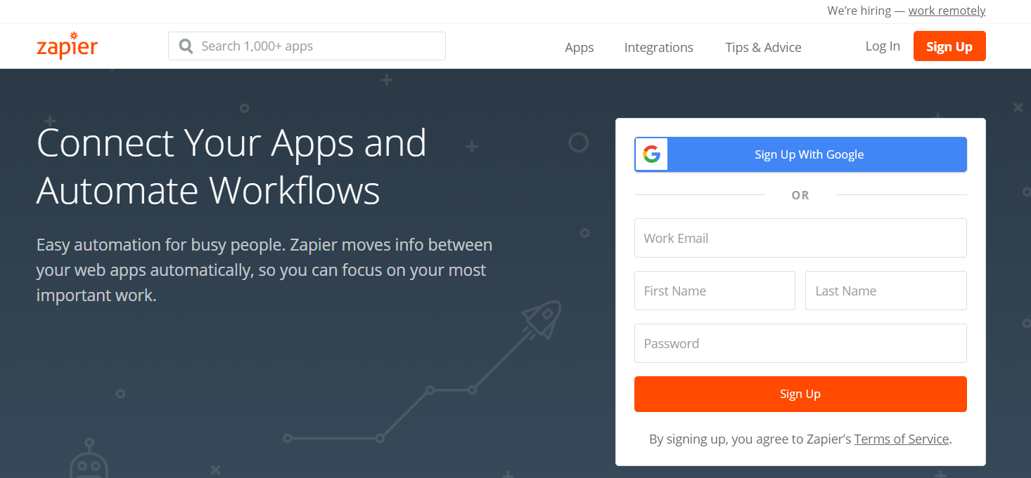 Zapier- Best Dropshipping Tools