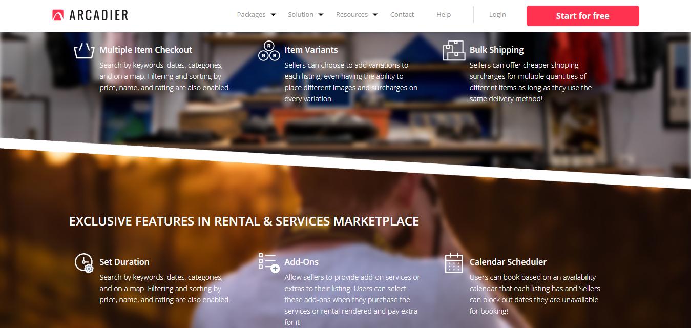 Arcadier Ecommerce marketplace
